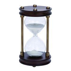 Woodland Wood Metal 15 Minute Hourglass Sand Timer Home Decor Mantel Shelf | eBay