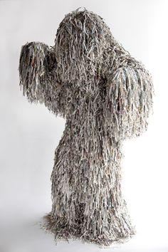 shredded paper monster