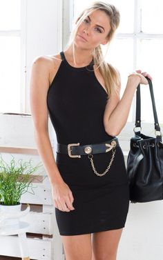 Take The High Road Dress in Black   SHOWPO Fashion Online Shopping $50 You won't ever get bored of this dress. Our Take The High Road dress will hug your body in all the right places. Pair it with a statement necklace and high heels for an understated night out look.