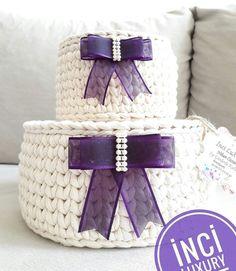 Diy Crochet Basket, Crochet Bowl, Crochet Basket Pattern, Crochet Stitches Patterns, Crochet Gifts, Knit Crochet, Crochet Decoration, Crochet Home Decor, Origami Box Tutorial