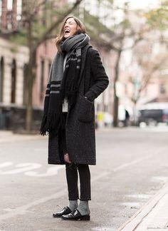 Dark neutral coat, GaranceDore