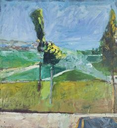 Richard Diebenkorn (American, 1922–1993), Landscape with smoke, 1960