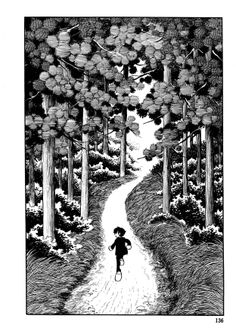 "Page from Osamu Tezuka's ""The Crater"", 1969.  Via http://fehyesvintagemanga.tumblr.com"
