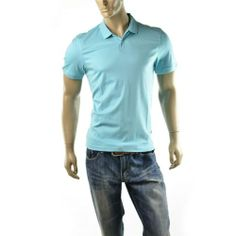 Calvin Klein Polo Shirt Mens Liquid Cotton Short Sleeve CK T Shirts Size S NEW | Get Dressed at ImageStudio714 http://stores.ebay.com/ImageStudio714