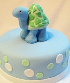 Simple and Cute!  Great Ideas for Baby Shower Cakes