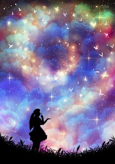 Iphone Wallpaper - Anime girl lost in Galaxy - Wallpaper Engine Anime Galaxy, Galaxy Art, Art Anime, Anime Kunst, Tumblr Wallpaper, Galaxy Wallpaper, Iphone Wallpaper, Art Galaxie, Ciel Art