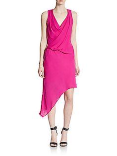 Asymmetrical Silk Dress