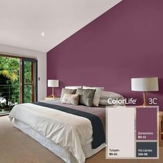 Plum Bedroom, Purple Bedrooms, Bedroom Wall Colors, Bedroom Color Schemes, Paint Colors For Living Room, Paint Colors For Home, Home Bedroom, House Colors, Living Room Decor