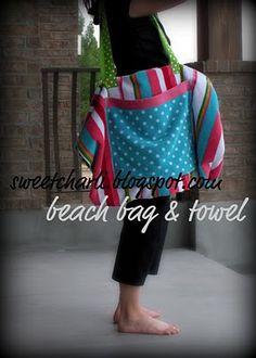 Beach Towel All-In-One Bag!!