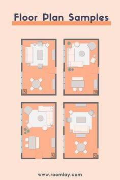 Are you looking for floor plan samples for your home. Create your room layout before you start decorating. You can check our more than 200 room layout examples. #floorplansamples #roomlayoutideas L Shaped Living Room Furniture, Living Room Furniture Arrangement, Living Room Floor Plans, Bedroom Floor Plans, Studio Apartment Floor Plans, Office Floor Plan, Bedroom Layouts, Cottage Design, Kitchen Layout