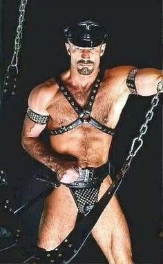 Leather Daddy In Jock & Harness