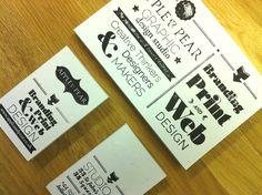 Apple #letterpress cards. www.appleandpear.co.uk