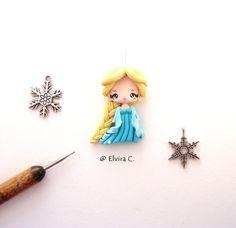 Elsa polymer clay charm by elvira-creations.deviantart.com on @deviantART