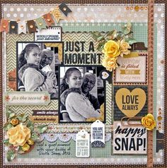 JULES THE BLING PRINCESS DT creation for Kaisercraft. Layout created using the Take Note collection, and the no.3 August sketch.