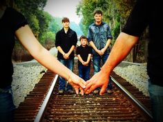 Family picture ideas. Family of 5 But I would have boys cross their arms instead.