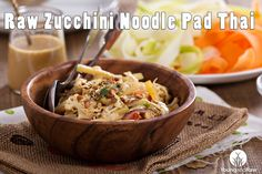 Raw Zucchini Noodle Pad Thai (It's Vegan!)