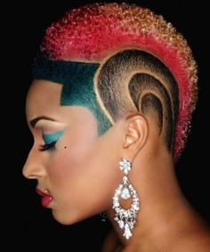 Awesome fro-hawk #natural hair