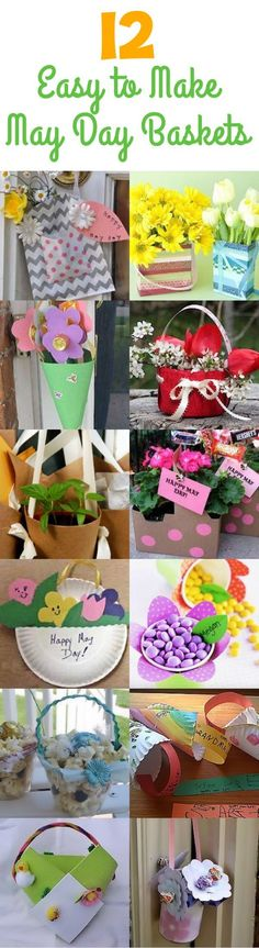 12 DIY May Day Baskets - Create some fun and unique May Day baskets to surprise your neighbors with! (http://aboutfamilycrafts.com/12-may-day-baskets-you-can-make/)