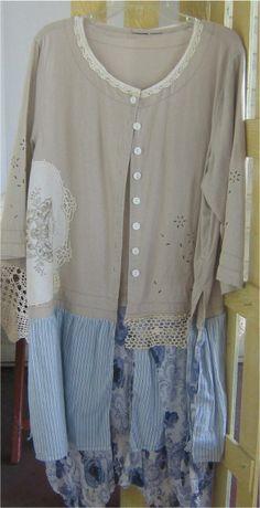 www.bonanza.com/bizbelle  Upcycled  Feminine Linen Jacket/Dress