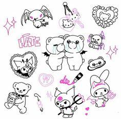 Emo Tattoos, Sharpie Tattoos, Grunge Tattoo, Flash Art Tattoos, Anime Tattoos, Mini Tattoos, Body Art Tattoos, Tatoos, Cute Tats