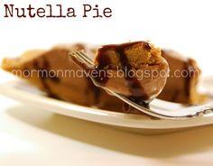 Mormon Mavens in the Kitchen: Happy Pi Day: Nutella Pie
