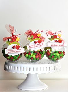 Ornament Treat Holder's - I think this would be another great volunteer gift!