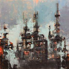 Pil Ho Lee Sci Fi, Industrial, Salt, Painting, Instagram, Science Fiction, Painting Art, Industrial Music, Salts