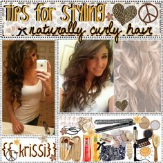 """""""{18.} Tips for styling naturally curly hair <33 ;)"""" by theamazingtipgirls-xoxo on Polyvore"""
