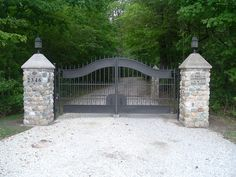 We lead the nation in providing hot dipped galvanized and powder coated driveway gates Front Gates, Entrance Gates, Outdoor Spaces, Outdoor Living, Driveway Entrance, Home Living, My Dream Home, Future House, Beautiful Homes