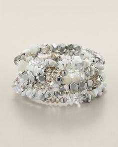 Chico's Opal Coil Bracelet #chicos.....love the color combo.....