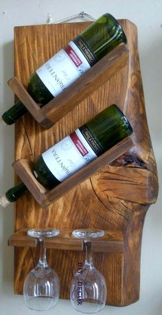 bouteille - Home decor - Wein Wine Glass Rack, Wine Rack Wall, Woodworking Projects Diy, Diy Wood Projects, Wine Rack Inspiration, Wine Rack Design, Rustic Wine Racks, Pallet Wine Rack Diy, Wooden Wine Holder