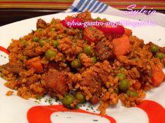 Sylvia Gasztro Angyal: Rizses hús tavasziasan