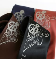 Victorian Gears. Men's silkscreen necktie. Screen by Cyberoptix, $30.00