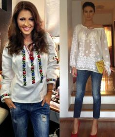 ilinca vandici si geanina ilies in ie Tunic, Embroidery, Long Sleeve, Sleeves, Inspiration, Outfits, Traditional, Google Search, Tops