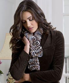 Un-Ruffled Knit Scarf Pattern  #knitting  #redheartyarns