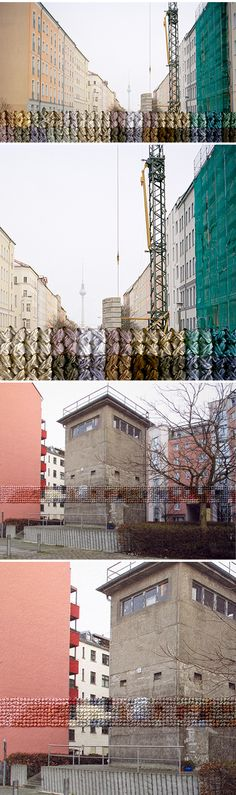 Embroidery and photographs…  This series is titled Berlin, and is the work of American artist Diane Meyer – it shows the former path of the Berlin Wall.