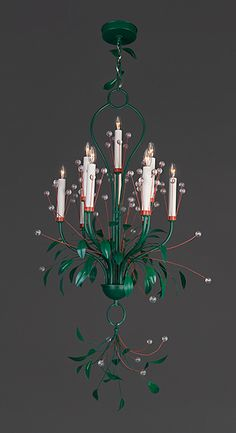 Magic Forest Chandelier, designed by Tony Duquette. Recreated locally in U.S by Remains Lighting http://remains.com/index.aspx