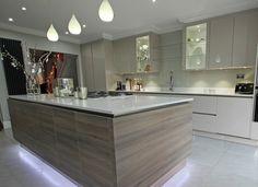 grey wood kitchen - Αναζήτηση Google