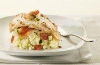Gebakken koolvis met groente-ratatouille en aardappelpuree recept - Vis - Eten Gerechten - Recepten Vandaag