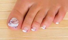 uñas.... Toenail Art Designs, Pedicure Designs, Pedicure Nail Art, Toe Nail Color, Toe Nail Art, Cute Toe Nails, Love Nails, Nail Art Palmier, Feet Nail Design