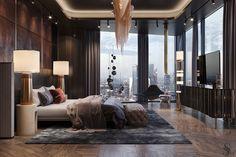 Modern Interior Design, Luxury Interior, Interior Architecture, Minotti Furniture, Luxury Furniture, Home Room Design, House Design, City View Apartment, Luxurious Bedrooms