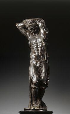 Agostino ZOPPO (Padoue ?, vers 1520 - Padoue, 1572)  Atlante  Vers 1555 - 1560  Padoue  Bronze  H. : 54 cm. ; L. : 20 cm.  Ancienne collection Chavagnac, Ladrière ; acquisition 1987