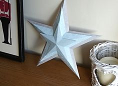 DIY 3D Christmas Paper Stars with Free Template Included