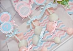 Baby Blue and Baby Pink Gender Reveal Party