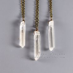 Raw Crystal Necklace, Rough Rock Crystal Point Necklace, Raw Quartz Crystal Stone Pendant , Clear Raw Gemstone Necklace,Healing Crystal