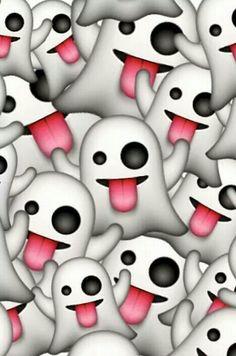 Ghost emoji wallpaper - image #3477353 by kristy_d on Favim.com