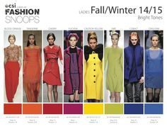 Fall Winter 2014-2015 Fashion Color Trends from Fashion Snoops