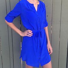 """Anthropologie cobalt blue dress! Maeve for Anthropologie cobalt blue dress! Size XS. Never worn! 100% Silk. Length in front 36"""", back 37.5"""", side 31"""". BUNDLE and SAVE! Anthropologie Dresses"""