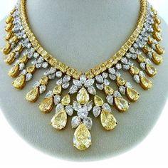 Yellow & White diamonds
