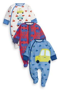 Buy Three Pack Car Sleepsuits (0mths-2yrs) online today at Next: Netherlands
